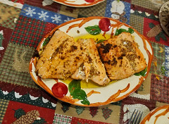 Salmon with Mustard and Honey (RockN) Tags: salmon dinner march2019 worcester massachusetts newengland