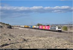 ONE (Trenes2000) Tags: trenes tren renfe mercancias 253 253089 teco one quimicos peligrosas electrica traxx bombardier ciempozuelos madrid mercante trenes2000 españa