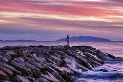 La danza del tramonto (Eugenio GV Costa) Tags: tramonto sunsets mare ballerina sunset beach water clouds sky outside