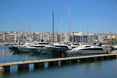 036A0496 (zet11) Tags: greece piraeus port marina yachts buildings sky water
