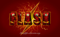 Flash (Justice League) (blindsuperhero) Tags: marvel superheroes texteffect wallpaper background dccomics theflash justiceleague barryallen costume character
