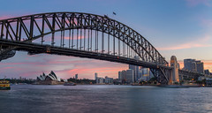 Harbour Bridge (www.cornelia-schulz-photography.com) Tags: sydney sunset city cbd beautiful bridge australia