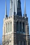 DSC_5032 (Sharkshock) Tags: durham city north carolina nc bull tobacco historic cityscape architecture church religious gothic spire downtown