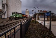 The Great Plains (WillJordanPhoto) Tags: trains railroad burlington northern bnsf santa fe sd40 grain garden city kansas dodge las animas local caboose