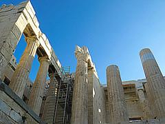 The Acropolis #2 (jimsawthat) Tags: ancient stone ruins acropolis propylaea urban athens greece
