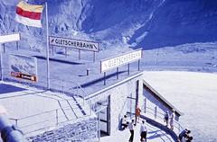 Grossglockner Gletscherbahn (zeesstof) Tags: geo:lat=4707548425 geo:lon=1275085678 geotagged zeesstofsmom kodachrome film 35mmslidefilm mamiya 1969 summerholiday mountains alps austrianalps triptothegrossglockner snow snowinsummer glacier pasterzeglacier grossglockner 3798m highestmountaininaustria