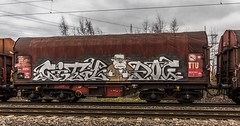 38_2019_01_16_Gelsenkirchen_Bismarck_6185_158_DB_mit_Coilzug ➡️ Herne_Abzw_Crange (ruhrpott.sprinter) Tags: ruhrpott sprinter deutschland germany allmangne nrw ruhrgebiet gelsenkirchen lokomotive locomotives eisenbahn railroad rail zug train reisezug passenger güter cargo freight fret bismarck bottropsüd ctd captrain db hctor hhpi 0632 1266 1232 1261 6152 6185 6187 6241 class66 vtgch rb42 hochspannungsmast kraftwerk herne dorsten dortmund logo natur outdoor graffiti