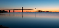 newport bridge at dawn (chieffoley) Tags: bridge landscape dawn sunrise ocean sea water outdoor jamestown newportbridge architecture