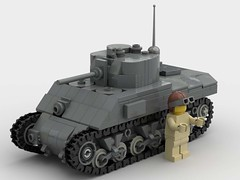 M4A2 sherman 1:45 scale (SirLuftwaffles) Tags: ww2 lego sherman luftwaffles luftwaffle 145 bricks brick block m4 m4a2 a2 fury