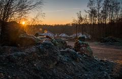 Quarry (christophecalsius) Tags: quarry sunrise dawn daybreak trees landscape stone belgium maasmechelen eisden