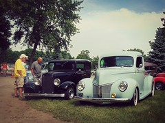 Checking out the old Fords (novice09) Tags: backtothefifties carshow ford pickup sedan streetrod 1932 1940 ipiccy