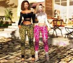 970 rina and linda (lindalindalein mayo) Tags: doux addams sl second life new blog style fashion mode bento mesh design digital art linda woman friends maitreya