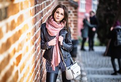 Magda (Vagelis Pikoulas) Tags: portrait woman women girl girls poznan poland europe sigma art f14 85mm prime bokeh street castle winter 2019 january day light canon 6d