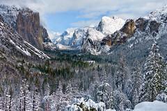 Yosemite Tunnel View Winter 2019 (Curtis Lannom) Tags: california wonderland winter nationalpark wonder vacation nps yosemite snow