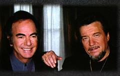 Neil Diamond and Waylon Jennings 1996 (musicloverdiamond) Tags: neildiamond waylonjennings 1996