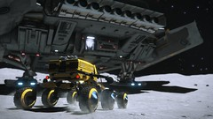 Back home (T H X - 1 4 6 9) Tags: elite dangerous krait spaceship videogame starship screenshot frontier vrs yellow moon phantom