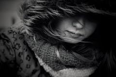 Elle (AnneStany) Tags: portrait blackwhite noirblanc monochrome kid children child childwood winter froid enfance nostalgie tristesse sadness wind vent