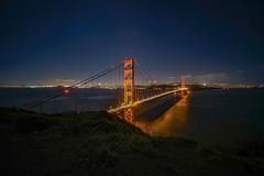 The Golden Gate (karinavera) Tags: 12mm city longexposure night photography cityscape urban ilcea7m2 sunset sanfrancisco bridge goldengate