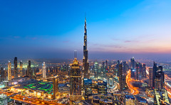 _DS20543 - Dubai Downtown skyline from the Index Tower rooftop (AlexDROP) Tags: 2019 dubai uae emirates arab twilight architecture art tower travel color cityscape skyline nikond750 tamronaf1735mmf284diosda037 best iconic famous mustsee picturesque postcard bluehour wideangle