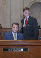 3-20-19 Cole Weaver page for Sen James Sturch (Arkansas Secretary of State) Tags: 32019 cole weaver page for sen james sturch