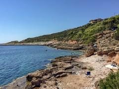 Salt flats, Skinias (kamphora) Tags: explored skinias greece attica saltflats sea rocky umbrella swim summer mediterraneansea mediterranean