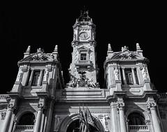 The Ornate Town Hall Building ( Ayuntamiento) (Monochrome) (Olympus OM-D EM5-II & M.Zuiko 17mm f1.2 Pro Prime) (markdbaynham) Tags: valencia valencian valenciacanibal vacation city citybreak cityscape vlc port marina evil espana espanol urban urbanlife metropolis mft olympusmft omd omdm43 omdem5 olympus olympusprolens prolenses m43 mirrorless micro43 microfourthird microfourthirds 17mm mzd zd mzuiko zuikolic f12 em5 em5ii em5mk2 em52 csc europeancity em5markii prime primelens prolens proprime micro43rd m43rd olympusspain spanish spanishcity bw monochrome blackwhite architecture