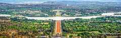 Canberra, ACT. From Mount Ainslie Lookout (Peter.Stokes) Tags: australia australian colour landscape landscapes nature panorama photo photography colourphotography outdoors river awayfromitall canberra capital parliamenthouse warmemorial canon