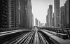 Dubai Metro.jpg (stefanr71) Tags: dubai bw rail xseries metro travel xt1 vereinigtearabischeemirate ae