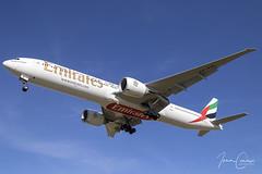 Boeing 777-31H/ER – Emirates – A6-EQL – Brussels Airport (BRU EBBR) – 2019 02 26 – Landing RWY 25L – 01 – Copyright © 2019 Ivan Coninx (Ivan Coninx Photography) Tags: ivanconinx ivanconinxphotography photography aviationphotography boeing boeing777 boeing777300 boeing77731her 777 b777 777300 77731her emirates a6eql brusselsairport bru ebbr ek183 aviation spotting spotter landing