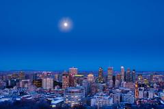 À vous toutes et tous/To you all/Till er alla... (Elf-8) Tags: montreal fullmoon moon bluehour sky skyline