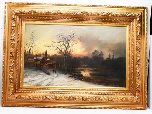 Henri Daudet (1864 -1917) Attributed Oil on Canvas ($1,400.00)