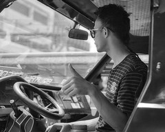 Cool (Beegee49) Tags: street people man thumbs up cool jeepney driver transport public blackandwhite monochrome bw luminar sony a6000 bacolod city philippines asian asia happyplanet asiafavorites