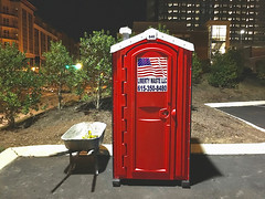 """""""The Eagle Has Landed"""" (Halvorsong) Tags: usa america tennessee nashville americana poop red outhouse color outdoor outside wow frame framed art composition contrast night nighttime light shadow lightandshadow halvorsong discover explore vintage classic door sign signs road roadside street urban city streetshot"""