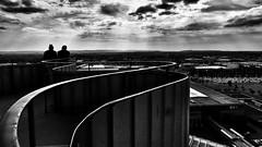 Blick vom Hermesturm auf dem Messegelände Hannover