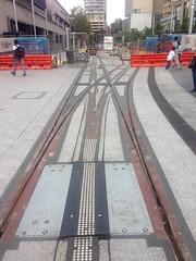 Light rail points at Circular Quay, Sydney (philip.mallis) Tags: sydney lightrail tram construction circularquay