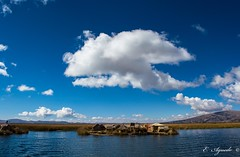 Uros (E. Aguedo) Tags: clouds sky lake titicaca puno peru water ngc reed island uros people indigenous blue