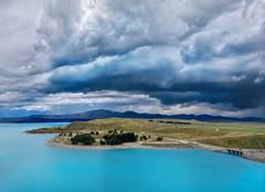 New Zealand Storm (Trey Ratcliff) Tags: treyratcliff stuckincustoms stuckincustomscom aurorahdr hdr hdrtutorial hdrphotography hdrphoto lake pukaki southisland newzealand water blue clouds storm landscape bridge