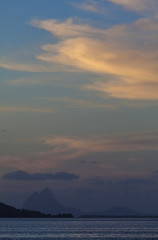 Light to Dark (Joost10000) Tags: bora borabora tahaa polynesia polynesie francaise polynesiefrancaise frenchpolynesia pacific pacifique ocean water sea lagoon landscape seascape landschaft canon canon5d eos bluehour scenic sky clouds sunset