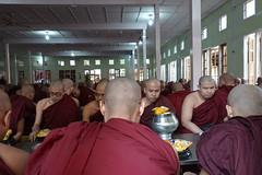 Buddhist monks at Maha Ganayon Kuang monastery in Amarapura, Mandalay region (3) (Prof. Mortel) Tags: myanmar burma amarapura buddhist monks