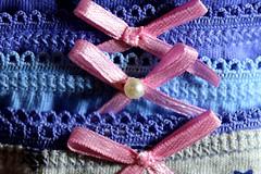"Gentle Wash (francepar95) Tags: macromondaysand""cloth macro theme challenge bows hmm cloth pearl jowel underwear"