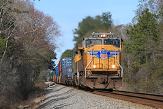 Soon to be Rare? leader (GLC 392) Tags: ns norfolk crawford norris control point cp southern 209 container train stacks railroad railway up union pacific emd sd70m 4120 2724 fl florida callahan ge c45ah gevi