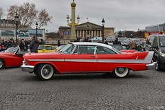 Christine à Paris (pontfire) Tags: la 19e traversée hivernale de paris 2019 en anciennes place concorde 1958 plymouth belvedere 2door sport coupe 58 christine v8 coupé hardtop sans montants mopar forward look voiture voitures cars auto autos automobile automobili automobiles coche coches carro carros wagen pontfire bil αυτοκίνητο 車 автомобиль classique ancienne vieille collection classic old antique vieux american américaine sports car oldtimer automotive red rouge movie film virgil exner 50s 自動車 سيارة מכונית
