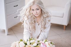 delicate bride's morning in the scenery (sabrina_lindsay) Tags: blondgirl face portrait model eyes lips makeup girl blueeyes blonde bride wedding woman beauty bouquet bridesmorning longhair doll decor morning fairy magic enchanting wonderful flower nature liliesofthevalley color white hair light fashion beautiful pretty lovely nice cute art natural people bokeh russianfederation