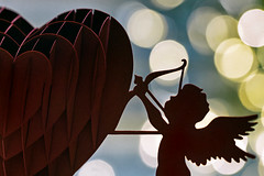 be mine (1crzqbn) Tags: ♥ heart bokeh happyvalentinesday macro paper cupid light shadows