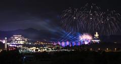 佛陀紀念館 (直髮盧女士與捲毛壞脾氣小姐) Tags: fireworks 台灣 花火夜景 煙火 2019 高空煙火 元宵節 佛光山