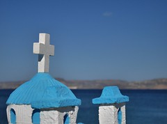Le bleu crétois (Thierry.Vaye) Tags: croix crète sitia mer bleu blanc ciel