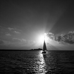Sailing home (Velby) Tags: sailing sunset ijsselmeer lemmer water sum