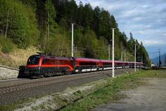 1116 200, rj 110 ( Klagenfurt > München ). Kolbnitz (M. Kolenig) Tags: 1116 railjet tauernbahn baum wald