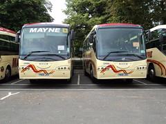 Mayne of Warrington 37 YN06JXH & 36 YN06JXG (yorkcoach2) Tags: york warrington mayne mayneofwarrington 36 37 yn06jxg yn06jxh stgeorgesfieldcoachpark scania irizar century scaniairizar