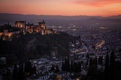 Sunset in Granada (susie@starfox.me.uk) Tags: alhambraandaluciagranadaspainsunset alhambra andalucia granada spain sunset